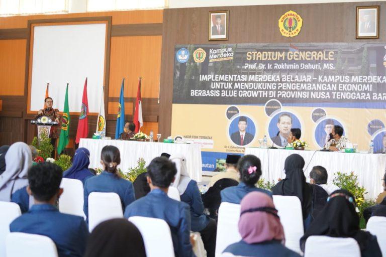 Kuliah Umum Universitas Mataram; Implementasi Merdeka Belajar Mendukung Pembangunan Ekonomi