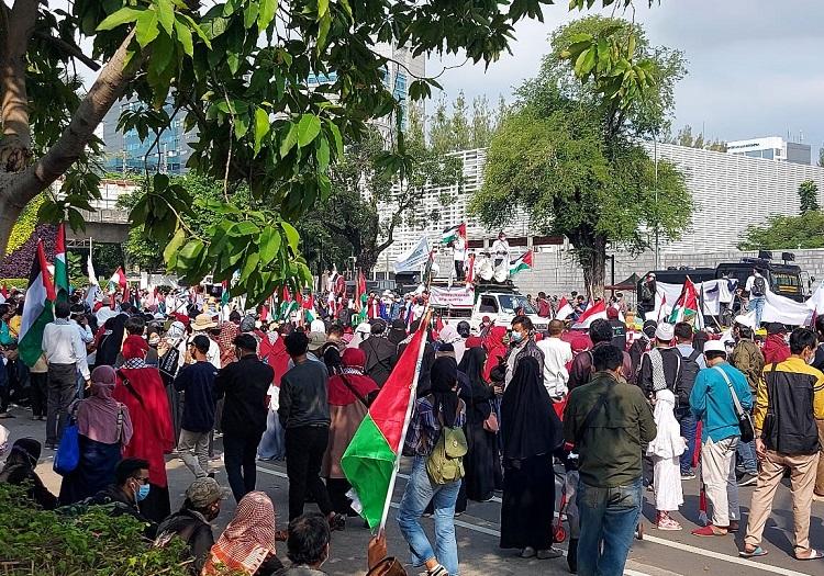 Damaikan Konflik Israel-Palestina, Ribuan Buruh Geruduk Markas PBB