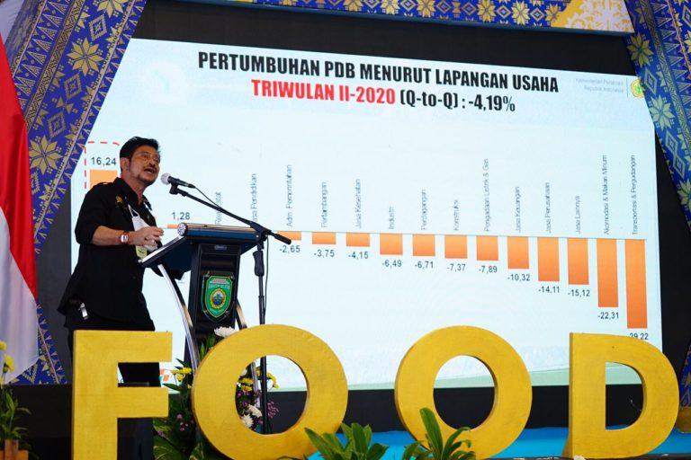 Hadiri Kick Off Food Estate, Mentan SYL: Pangan dari Sumsel untuk Indonesia