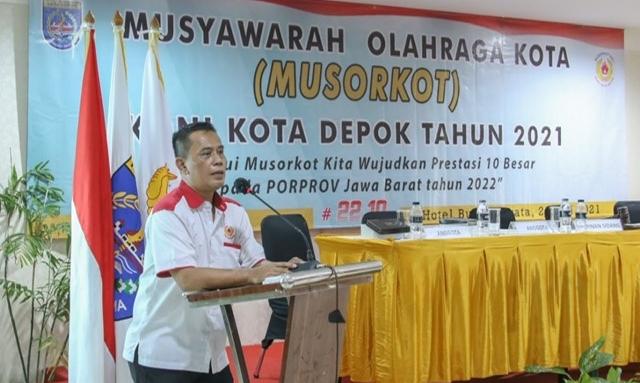 Aklamasi, Herry Suprianto Resmi Jabat Ketua Koni Depok