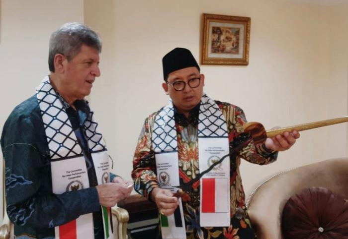 Temui Dubes Zuhair, Fadli Zon: Indonesia Selalu Bersama Palestina
