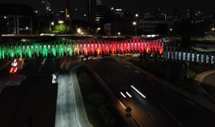Lampu JPO di Jakarta Menyala Mirip Bendera Palestina, Ini Kata Anies