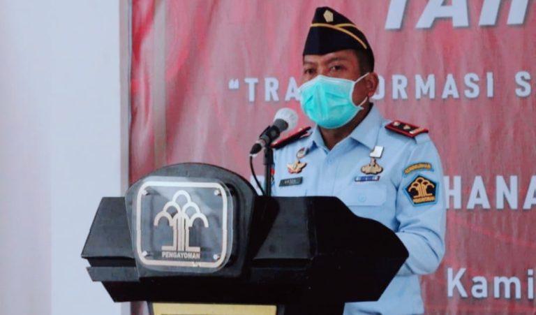 Sampaikan Belasungkawa, Kepala Rutan Depok Ajak WBP Doakan Istri Menkumham