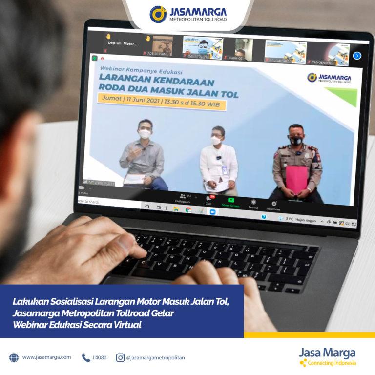 Jasamarga Gelar Webinar Sosialisasi Larangan Motor Masuk Jalan Tol
