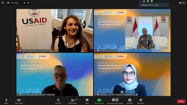 Bersama FAO dan USAID, Indonesia Luncurkan Program Ketahanan Kesehatan Global