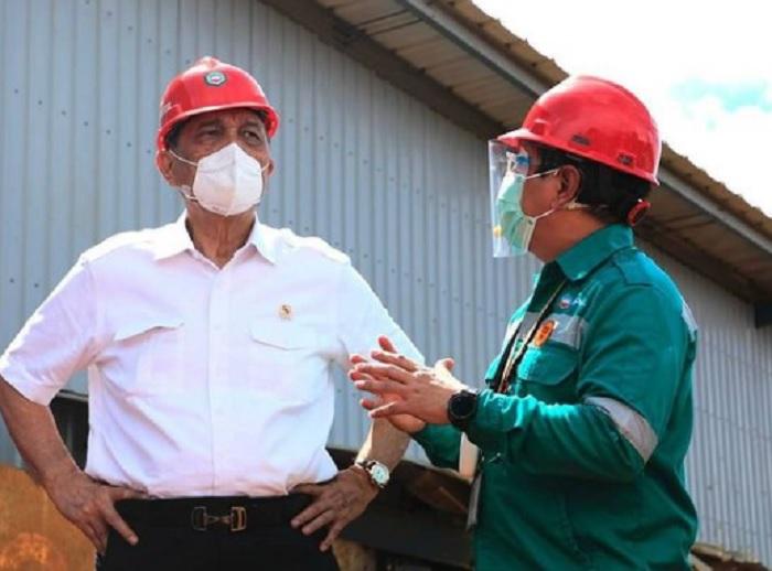 Kunjungi Industri Pengolahan Nikel, Luhut Mengaku Takjub