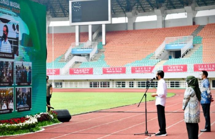 Jokowi Targetkan Pemkab Bogor Percepat Vaksinasi hingga Agustus