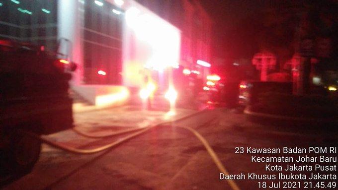 Astaga, Kantor BPOM Kebakaran