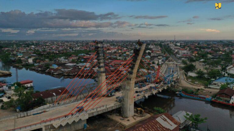 Jembatan Sei Alalak Banjarmasin ditargetkan Rampung pada September 2021