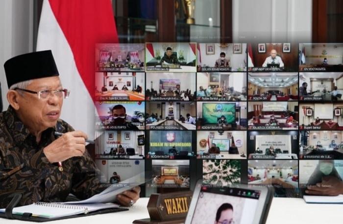 Ma'ruf Amin Apresiasi Kerja Keras Pemprov DIY Tangani Covid-19