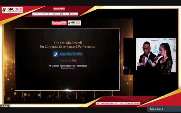 Jamkrindo Raih Apresiasi di Ajang GRC dan Perfomance Excellence Award 2021