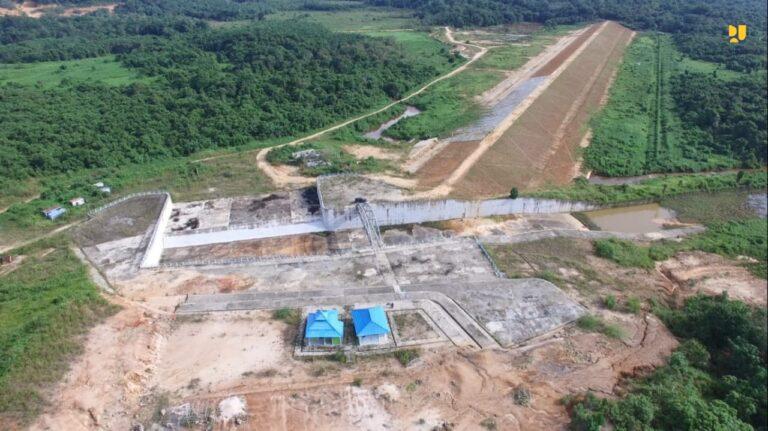 Konstruksi Rampung 100%, Bendungan Marangkayu Kaltim Airi 4.500 Hektar Lahan Irigasi