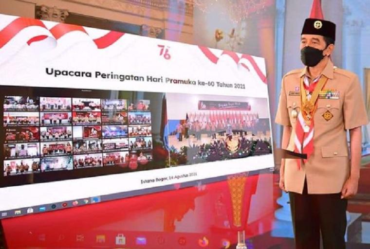 Jokowi: Pramuka Harus jadi Pelopor Disiplin Prokes