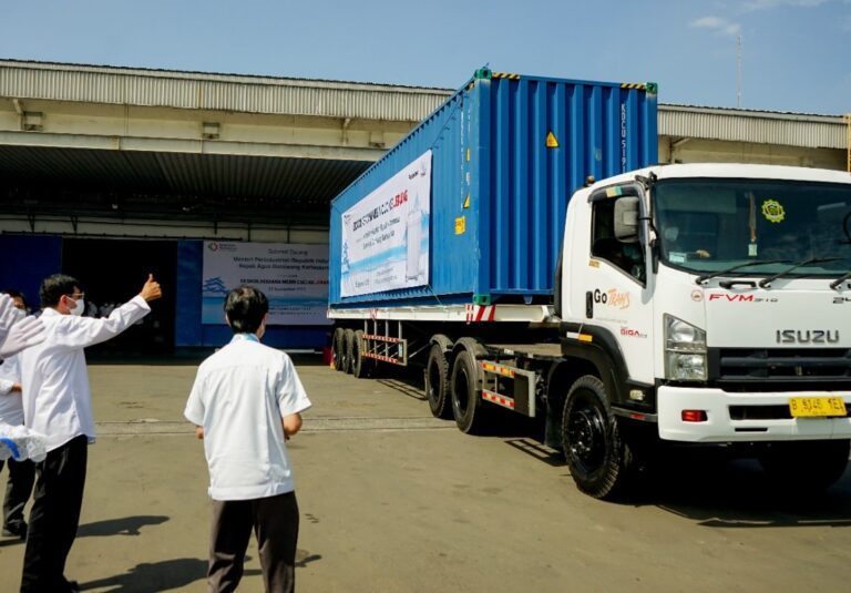 Perdana! Kemenperin Ekspor  Mesin Cuci PT Panasonic Manufacturing Indonesia ke Jepang