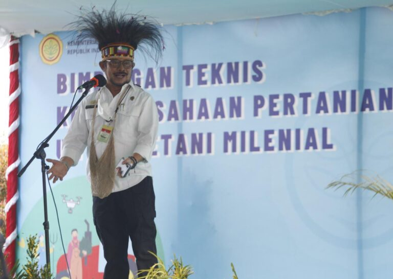 Dari Papua, Mentan Syahrul Cetak SDM Pertanian Muda
