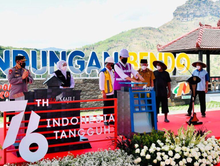 Jokowi Resmikan Bendungan Bendo di Ponorogo