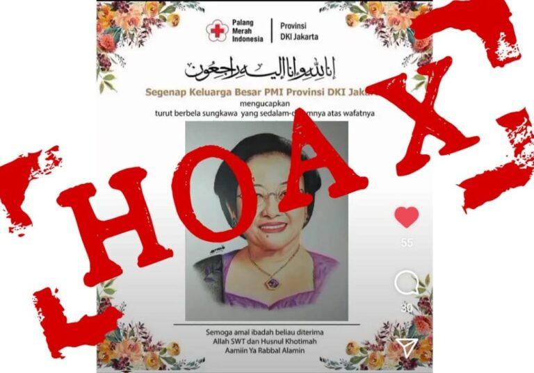 PMI Jakarta Bantah Sebar Hoaks Ucapan Duka Bergambar Megawati