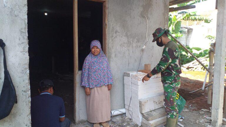 Rumahnya Direnovasi, Wanita di Depok Doakan Satgas TNI Panjang Umur