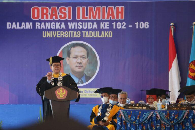 Pidato Ilmiah Wisuda Untad, Prof Rokhmin paparkan Kunci Sukses Alumni PT