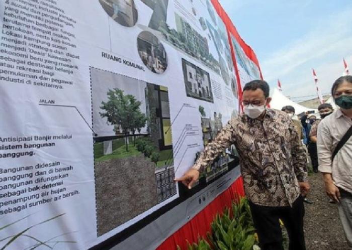 Anies Lega Kampung Susun Produktif Tumbuh Cakung Mulai Dibangun